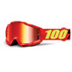 100% Accuri - Gafas enduro - Anti Fog Mirror Lens / rojo